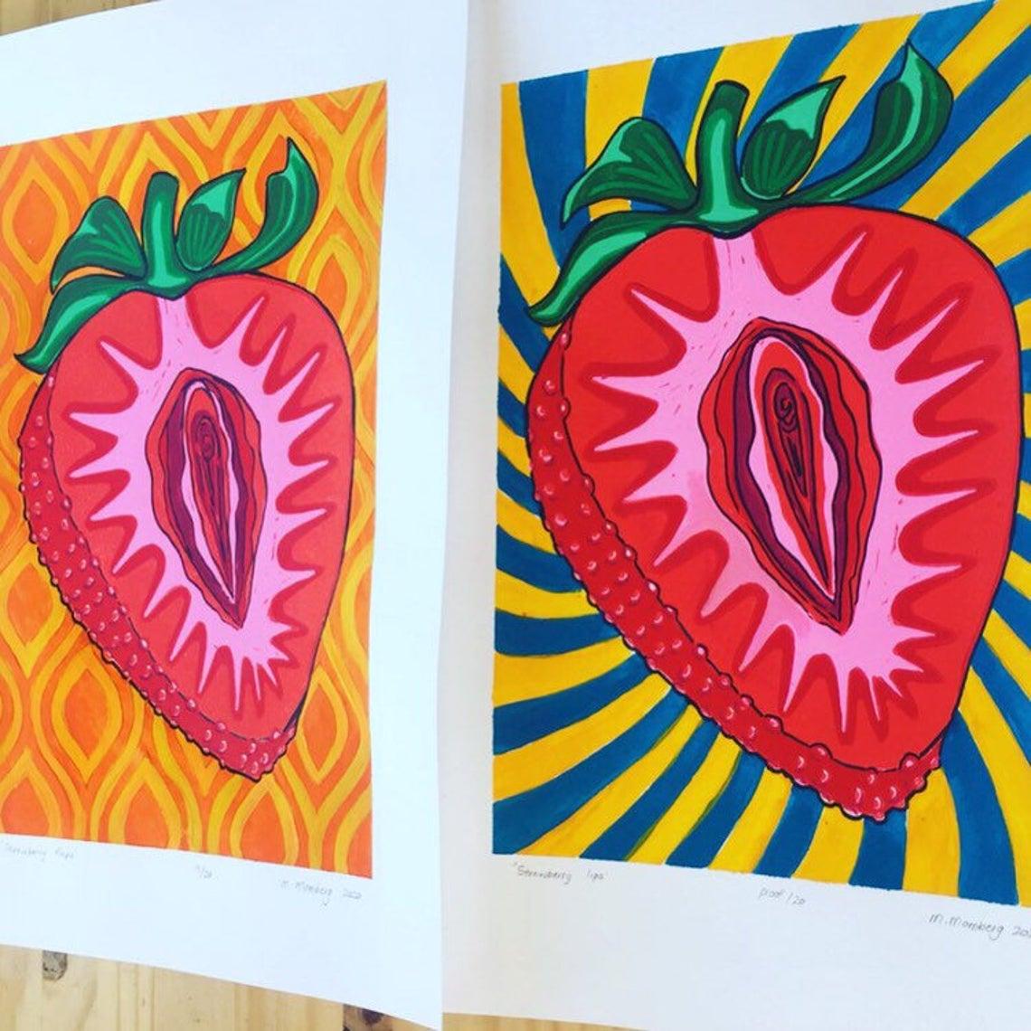 Metanoia Limited edition Linocut block print wall decor